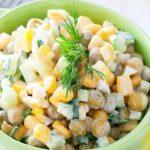 Картофена салата с царевица