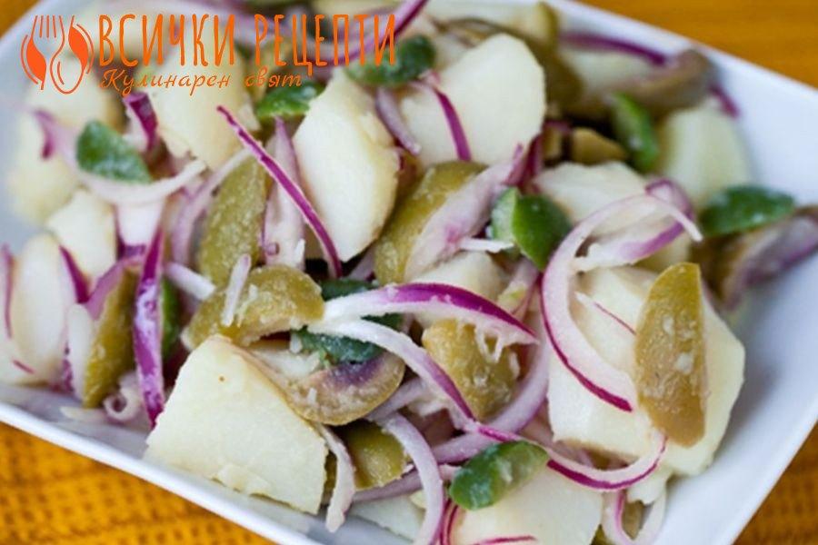 Картофена салата с лук
