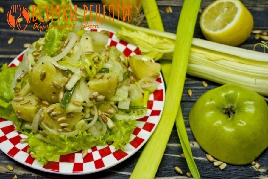 Картофена салата с праз