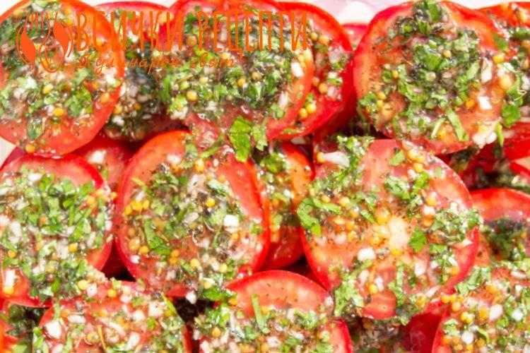 Лесна салата от пресни домати
