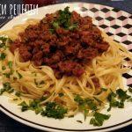 Лесни спагети с кайма