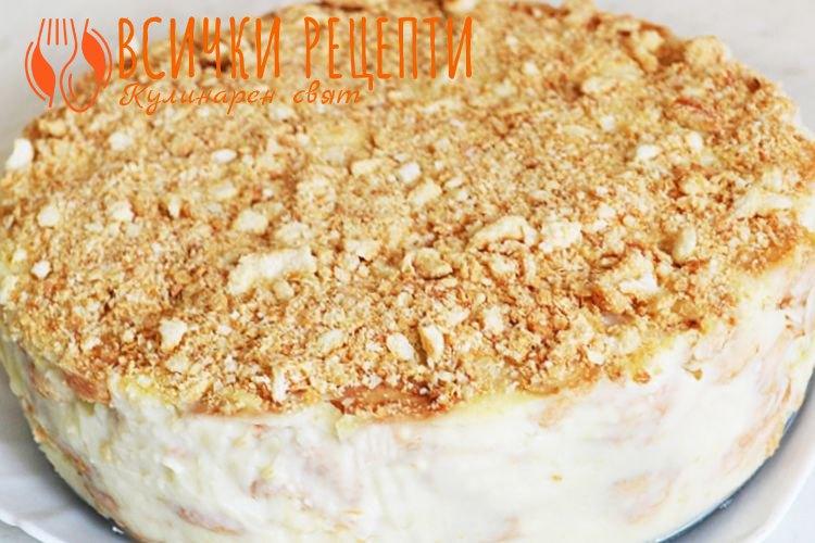 Бисквитена торта с Маскарпоне и сметана