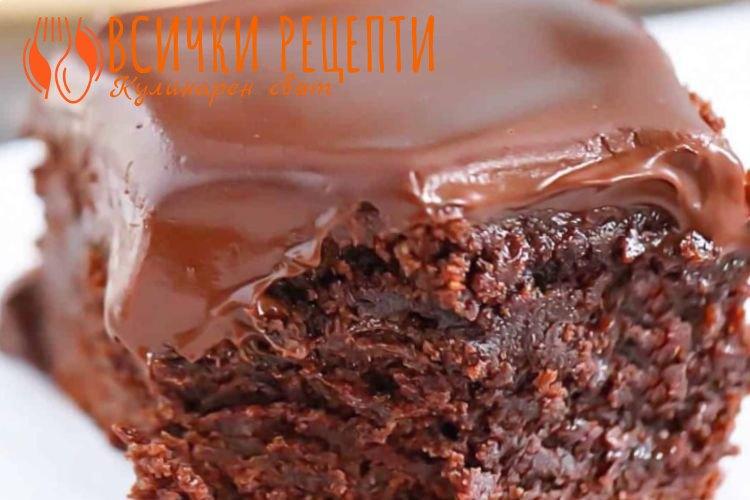 Брауни с течен шоколад