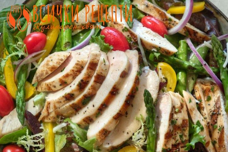 Френска салата с пилешко месо