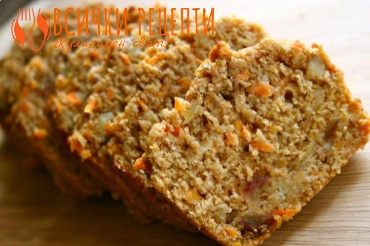 Кекс с моркови без захар