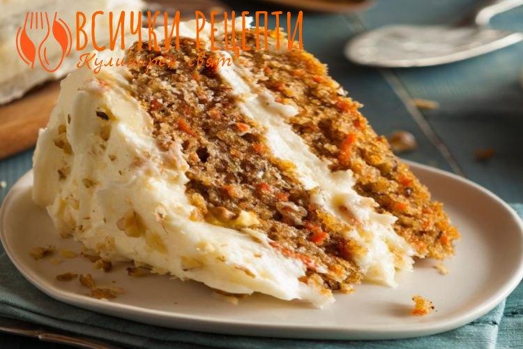 Лека морковена торта