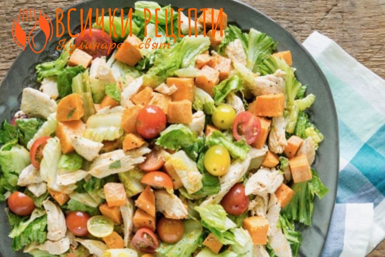 Пилешка салата с майонеза и картофи