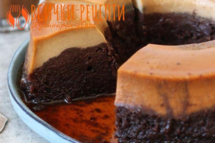 Торта с крем карамел