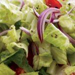 Зелена салата с чери домати