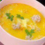Супа топчета с ориз и фиде