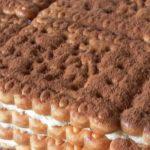 Бисквитена торта с пудинг ванилия