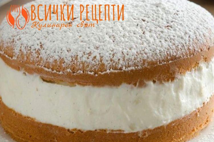 Млечен крем за торта