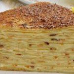 Палачинкова торта с крем