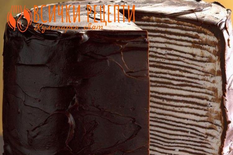 Палачинкова торта с шоколад