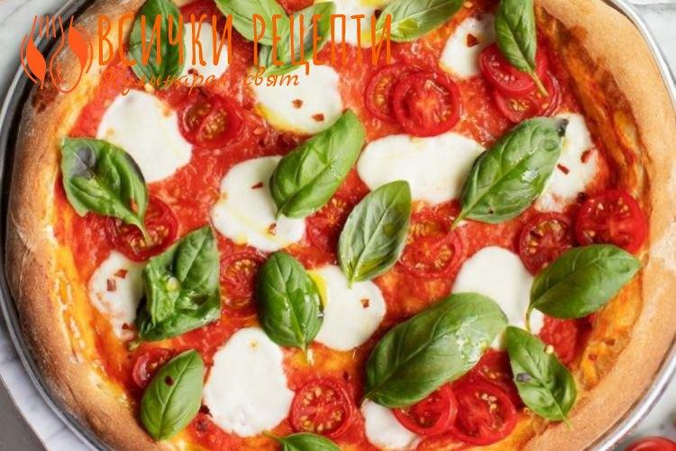 Пица Маргарита с готово тесто