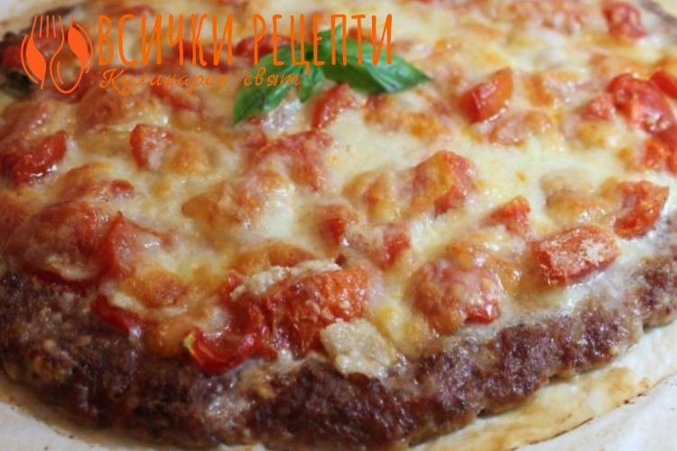 Пица с блат от кайма