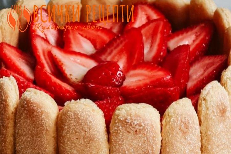 Плодова торта с бишкоти