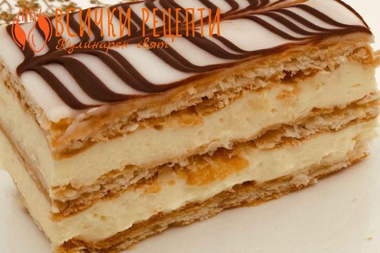 Торта Наполеон с бутер тесто