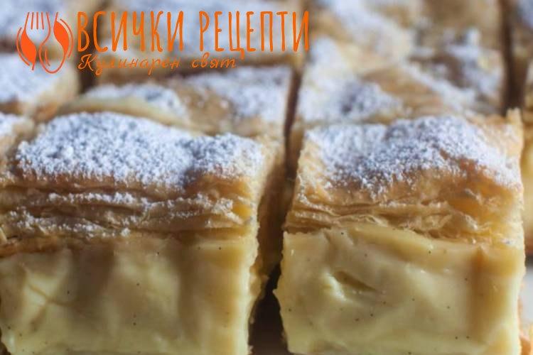 Торта Наполеон с готови кори