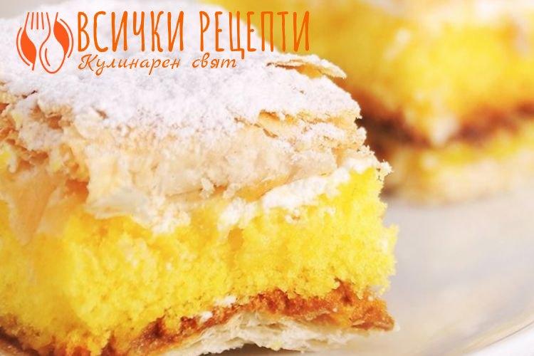 Торта с пудинг