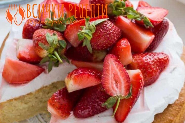 Веган торта с ягоди
