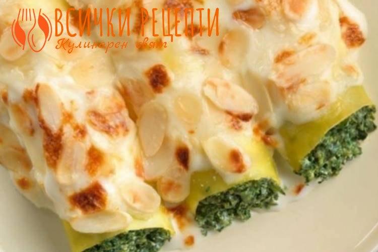 Канелони със спанак и сирене