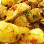 Картофена яхния с пилешко месо
