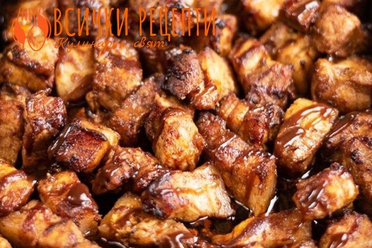 Парченца свинско месо на фурна