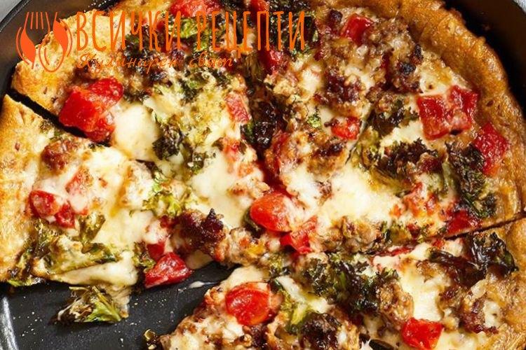 Пица на тиган рецепта