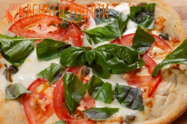 Пица с Моцарела и кашкавал