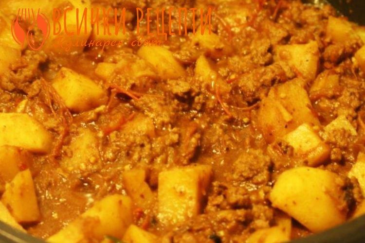 Рецепта с кайма и картофи