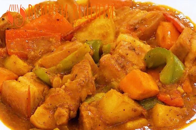 Рецепта със свинско месо на хапки