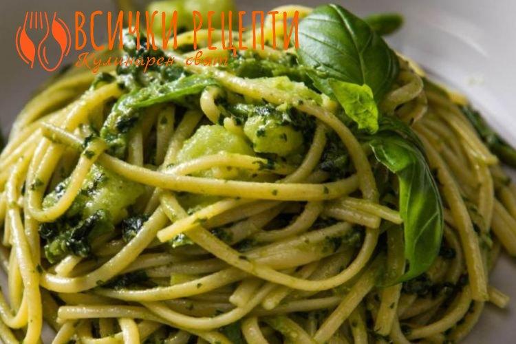 Спагети с песто