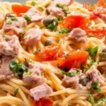 Спагети с риба тон