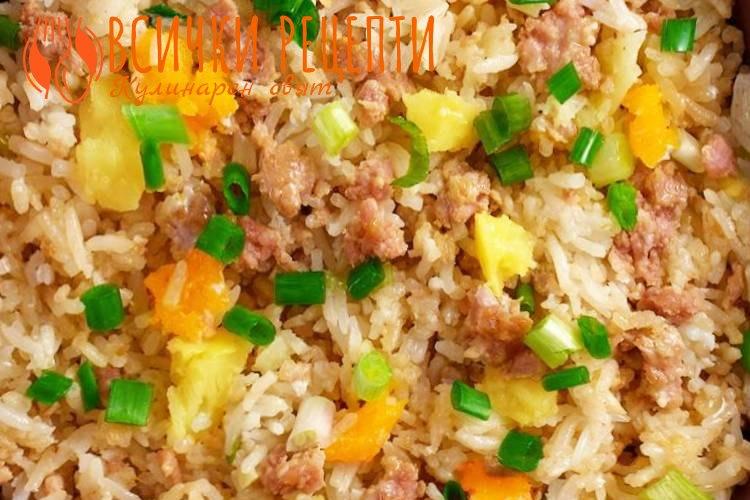 Свинско с ориз класическа рецепта
