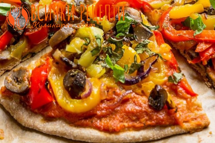 Веган пица от лимец