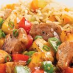 Ястие със свинско месо и зеленчуци