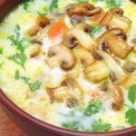 Гъбена супа със застройка